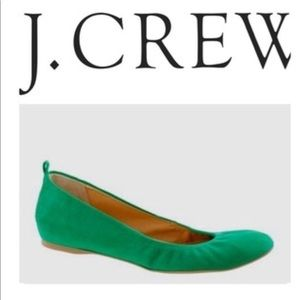 J. Crew Cece Suede Ballet Flats Made in Italy